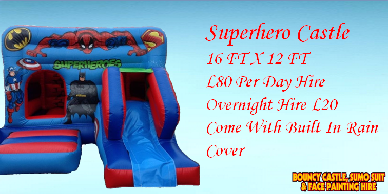 Superhero Bouncy Castle Kent